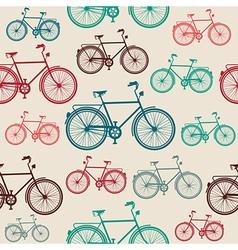 Vintage bike elements seamless pattern vector image vector image