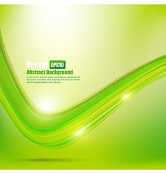 Abstract background ligth green curve and wave vector