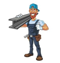 Hipster repairman cartoon character design vector