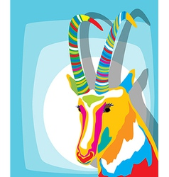 Funky goat vector