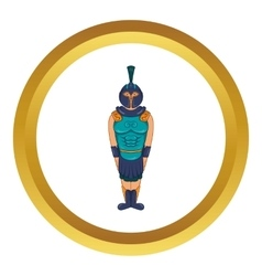 Ancient egyptian warrior icon vector