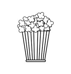 Isolated popcorn snack vector