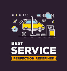 Creative of car service workshop on vector