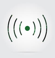 Green black tartan icon - sound vibration symbol vector
