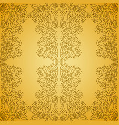 Seamless vintage gold pattern vector