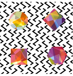 Gemstones abstract seamless pattern colorful vector