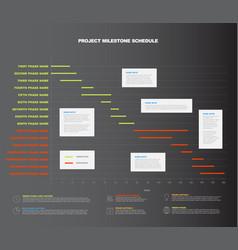 Project timeline graph - gantt progress chart vector