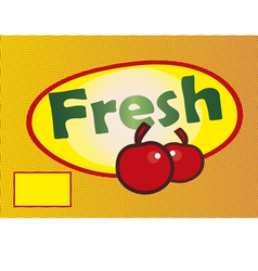Banner- percent fresh vector