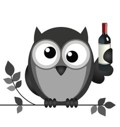 OWL DRUNK vector image