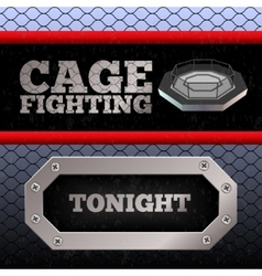 Cage fighting mma poster banner vector