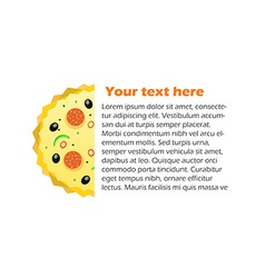 Pizza with space for your text vector