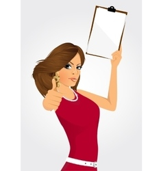 woman with clipboard vector image