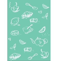 Tea st background light blue vector