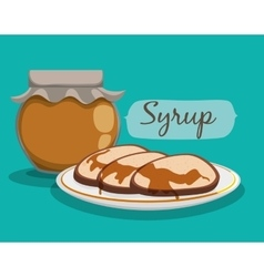 Breakfast food design vector