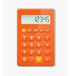 Realistic calculator vector