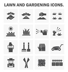 Gardening icon vector image