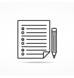 Survey line icon vector