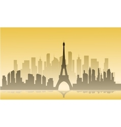France city of silhouette vector image