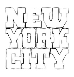 T shirt typography graphics new york black grunge vector