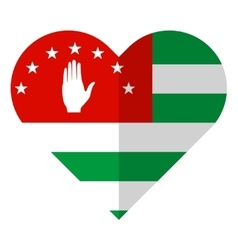 Abkhazia flat heart flag vector