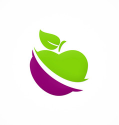 Apple fruit vegetable logo vector