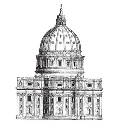 Back view of st peters rome a most wonderful vector