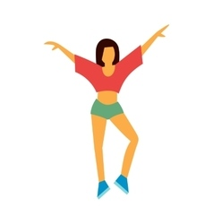 Best dance flat icon vector image