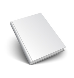 blank book on white vector image vector image