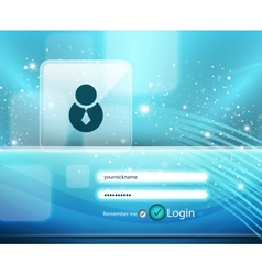 blue login page vector image vector image