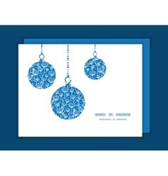 Blue white lineart plants christmas vector