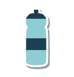 Bottle water gym equipment vector