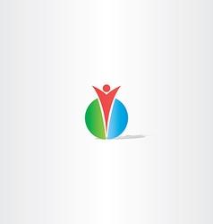 circle man logo design vector image