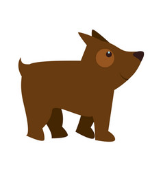 cute little dog mascot vector image