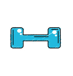 Dumbbell instrument to do exercise in the gym vector