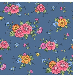 floral pattern grey vector image