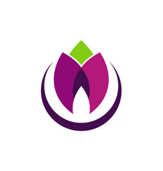 Flower beauty colored logo vector