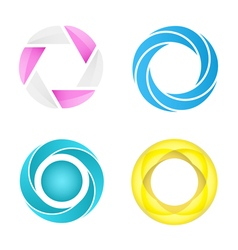 Four segmented circles vector