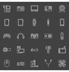 Gadgets icons set vector image vector image