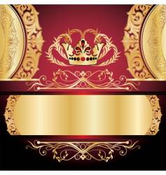 golden ornament vector image vector image