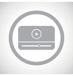 Grey mediaplayer sign icon vector