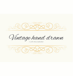Hand drawn flourishes text divider graphic vector