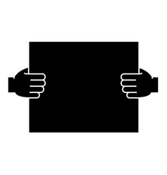 hands holding paper icon vector image vector image