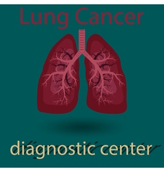 human lung emblem vector image vector image