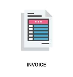 invoice icon concept vector image vector image