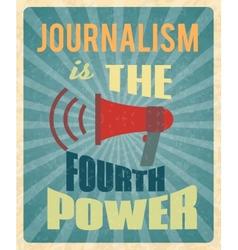 Journalism poster vector