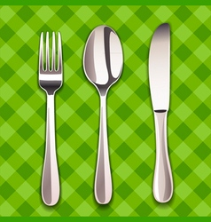 Knife spoon and fork vector
