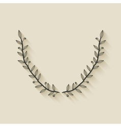 Laurel award wreath vector