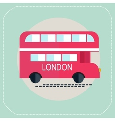 london bus icon flat vector image