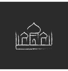 Mosque icon drawn in chalk vector image