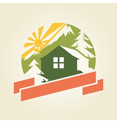 Mountain house 1 vector